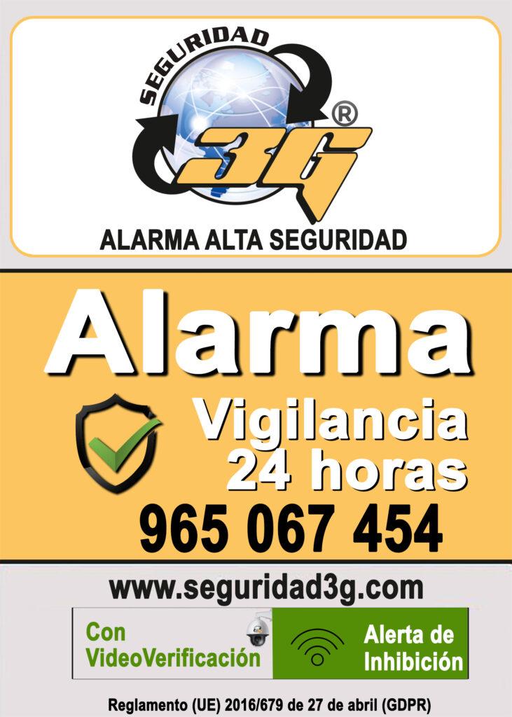 Cartel Seguridad 3G